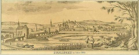 Esslingen Aktiv | Ansicht Esslingen 1643 | Mittelalterliches Esslingen